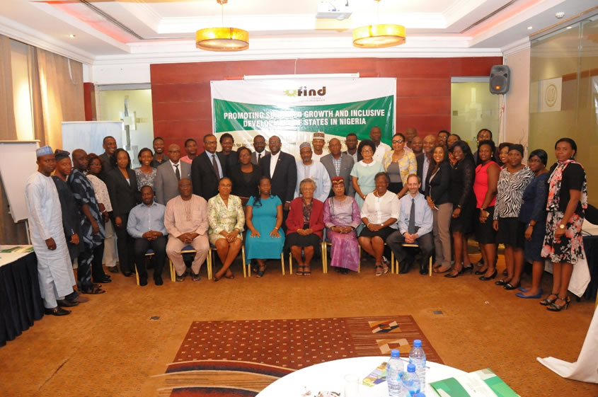Report of Dialogue on Promoting Sustained Growth and Inclusive Development of States in Nigeria Forum for Inclusive Nigerian Development (FIND) 12th April 2016